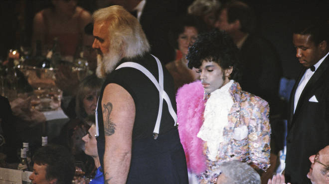Prince at the BRIT awards 1985