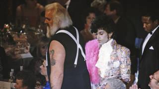 Prince at the BRIT awards 1985