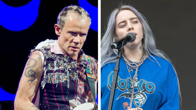 Red Hot Chili Peppers bassist Flea and Billie Eilish