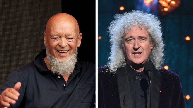 Glastonbury founder Michael Eavis and Queen's Brian May