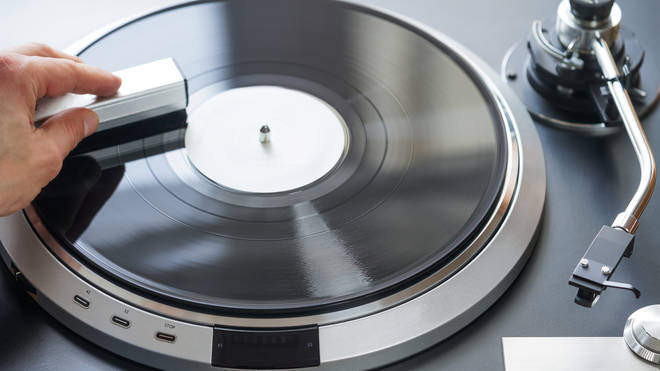 Cleaning a vinyl record