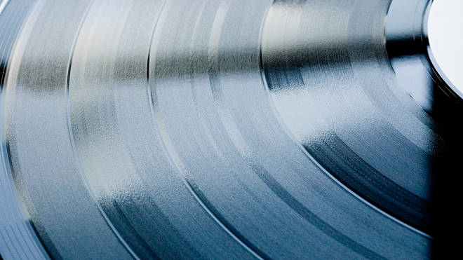 Vinyl record close up