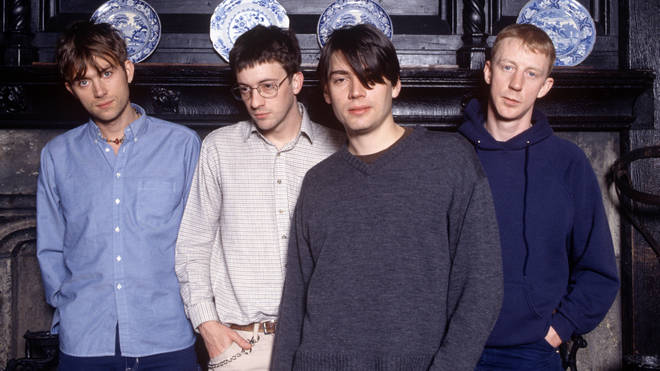 Blur pictured in 1997