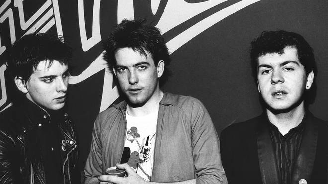 The Cure in Holland in 1980: Simon Gallup, Robert Smith and Lol Tolhurst