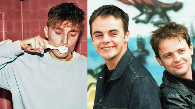 Sam Fender and Ant McPartlin and Declan Donnelly as PJ and Duncan in Byker Grove