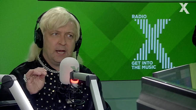 Alex Lowe who plays Clinton Baptiste in Phoenix nights visits The Chris Moyles Show