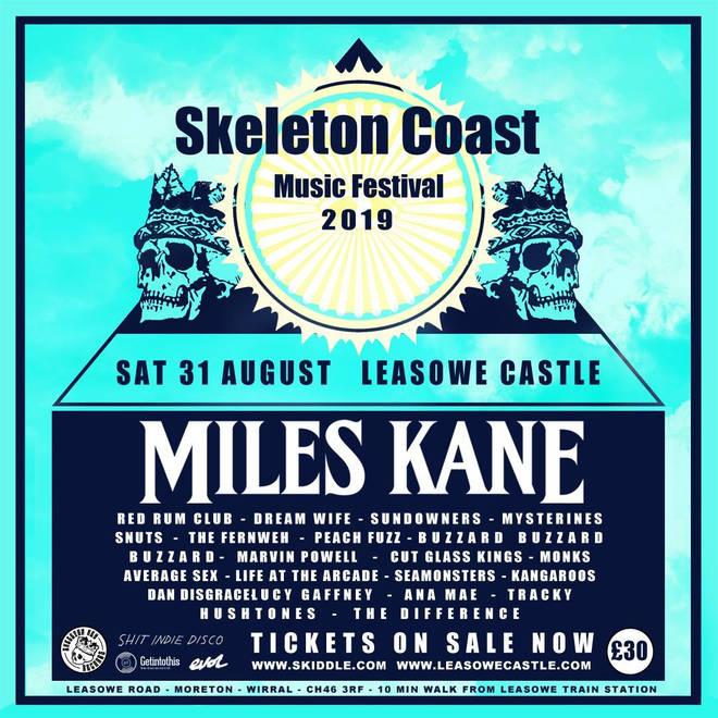Miles Kane to headline Skeleton Coast Music Festival 2019