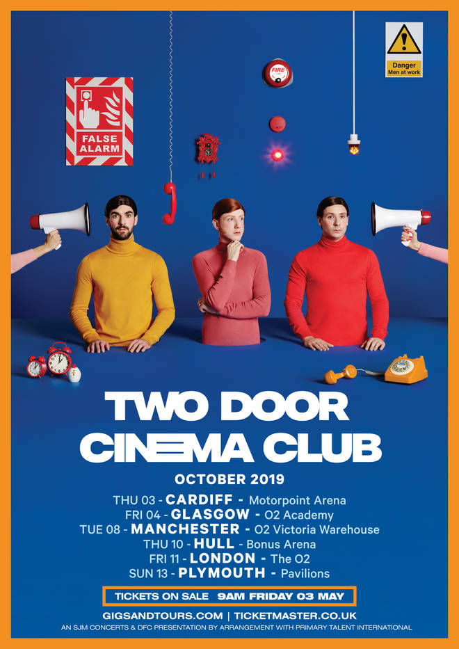 Two Door Cinema Club tour poster October 2019