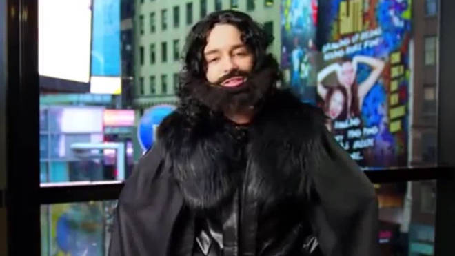 Emilia Clarke goes undercover as Jon Snow in Times Square