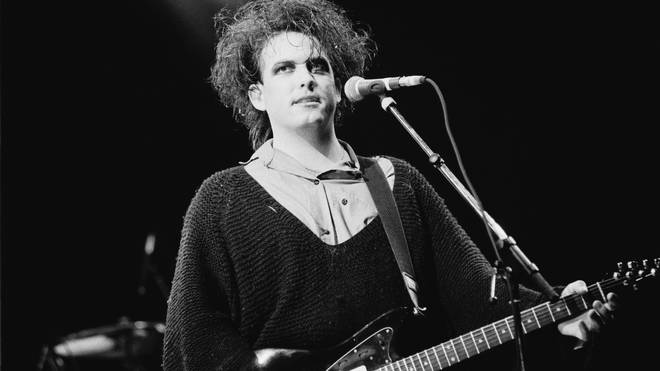 Robert Smith performs with The Cure at Torhout/Werchter festival in Belgium on 7 July 1989.