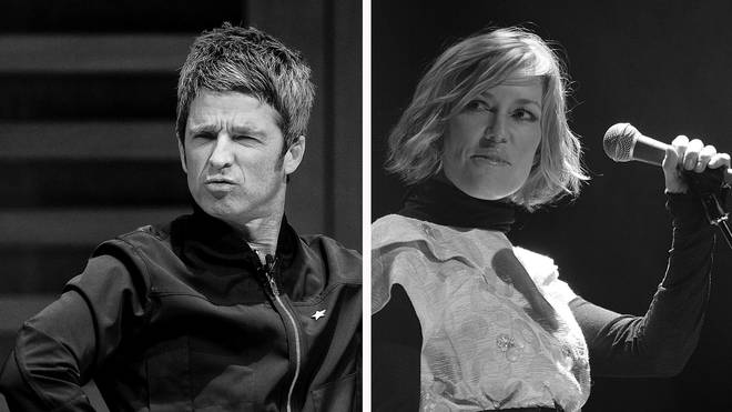 Noel Gallagher and Catatonia lead singer Cerys Matthews