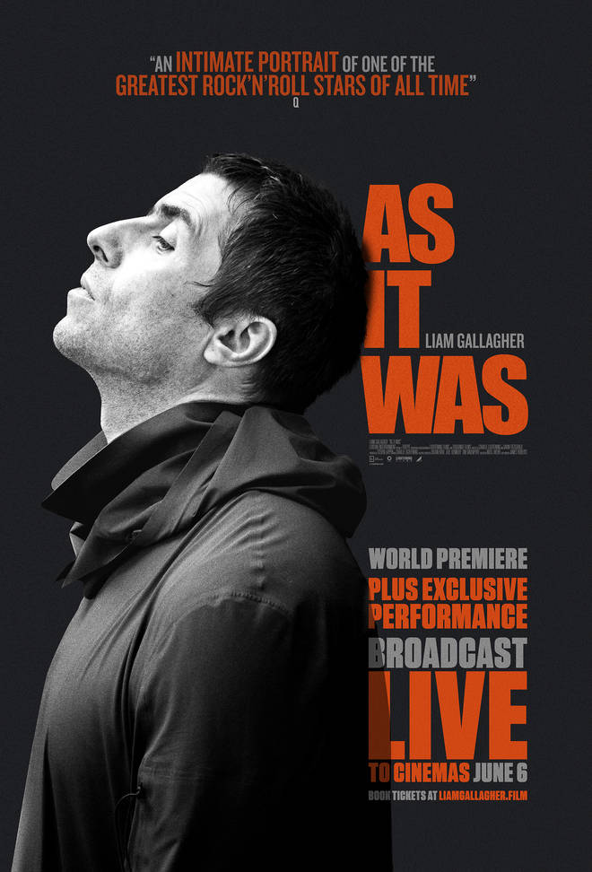 Liam Gallagher's As It Was live premiere poster