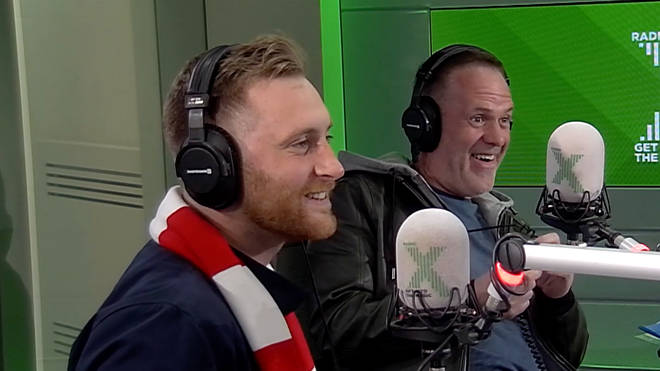 Toby comes in to the Radio X studio after his overnight Barcelona trip