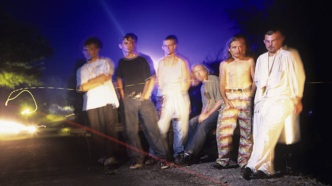 James in 1994: Tim Booth, Jim Glennie, Mark Hunter, Dave Baynton-Power, Saul Davies and Larry Got