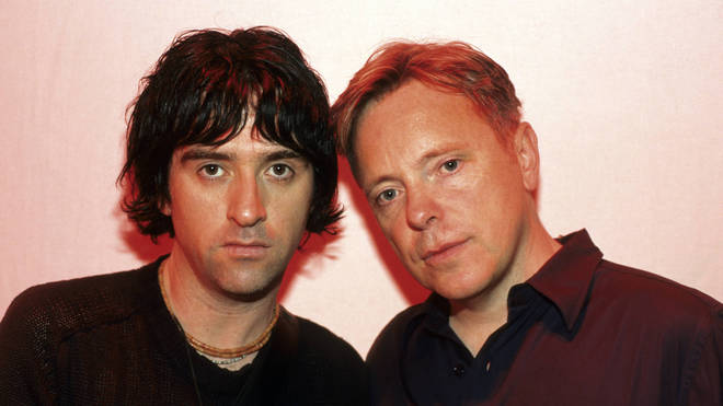 Photo of Bernard SUMNER and ELECTRONIC and Johnny MARR