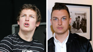 Arctic Monkeys drummer Matt Helders in 2006 and 2016