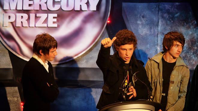 Jamie Cook, Matt Helders and Alex Turner at the 2016 Nationwide Mercury Prize awards