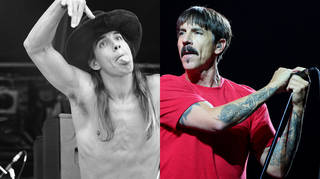 Anthony Kiedis in 1989 and 2019