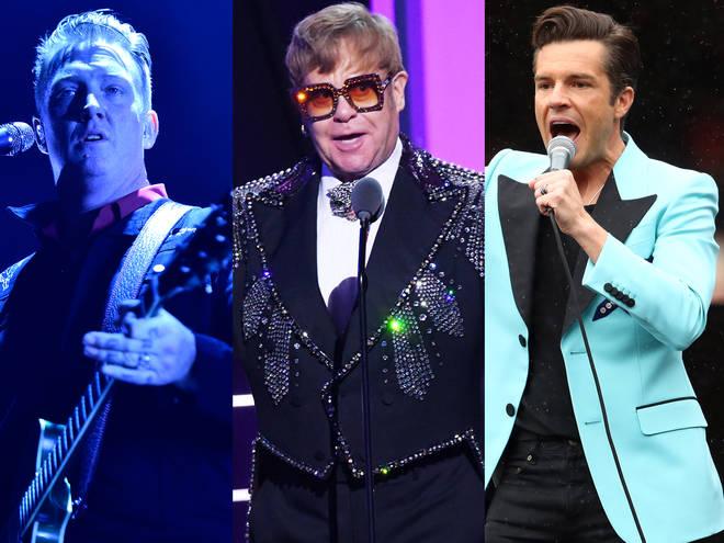 Josh Homme, Elton John and Brandon Flowers