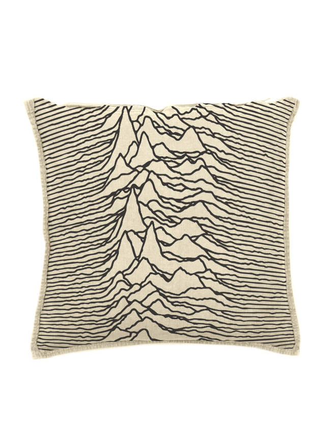 Joy Division Goodhood Unknown Pleasures cushion