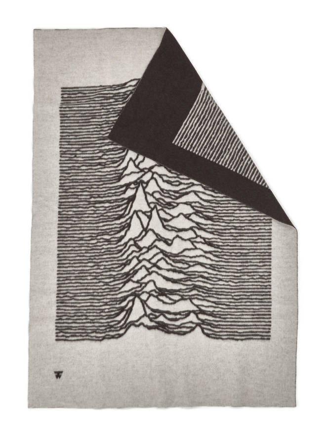 Joy Division Goodhood Unknown Pleasures blanket