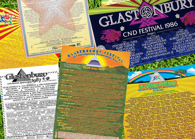 Glastonbury line-ups
