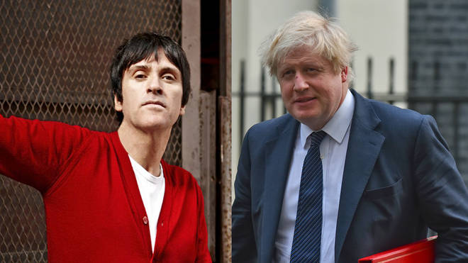 Johnny Marr and Boris Johnson