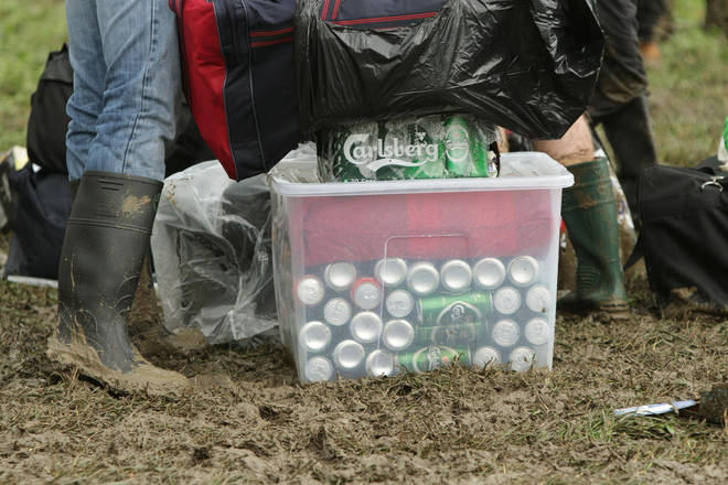 Glastonbury 2011: a whole stack of beer