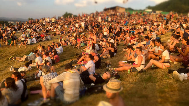 Festival Goers Enjoy Glastonbury 2017