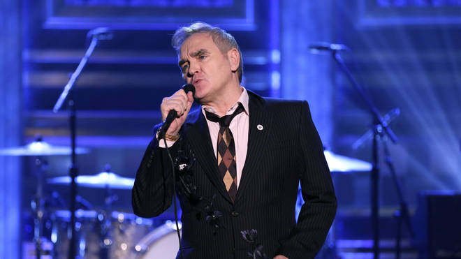 Morrissey wears a For Britain badge on The Tonight Show Starring Jimmy Fallon