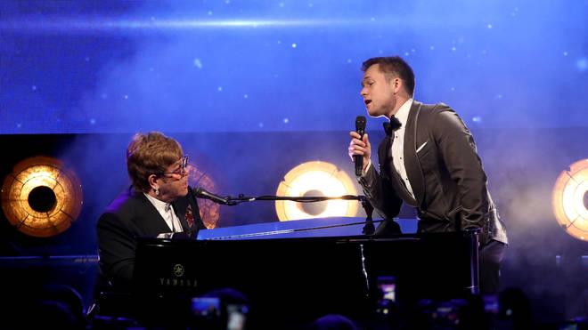 Elton John and Taron Egerton perform Rocket Man Cannes Film Festival