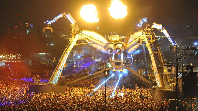 Arcadia's Spider at the 2018 10th anniversary Metamorphoses show