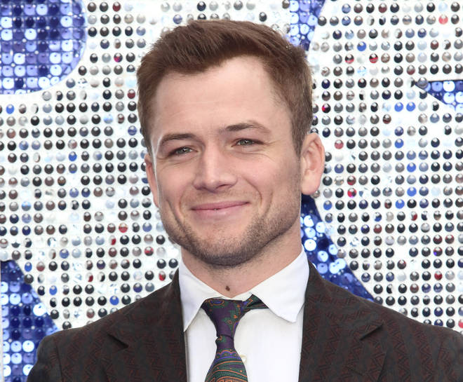 Taron Egerton at the Rocketman premiere in London, May 2019