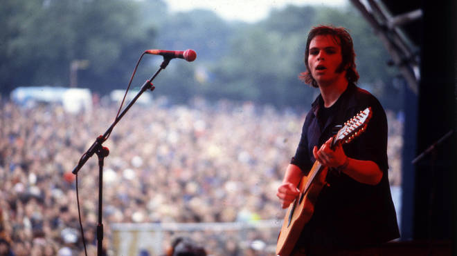 Supergrass performing at Glastonbury 1997