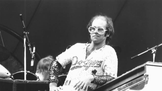 Elton John plays Dodger Stadium in 1975