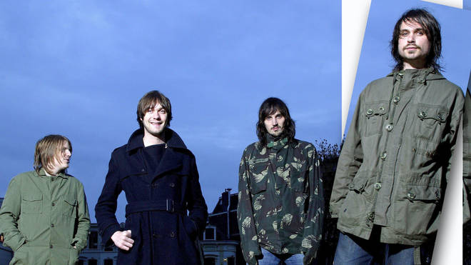 Kasabian in 2004: Chris Edwards, Tom Meighan, Sergio Pizzorno and Christopher Karloff