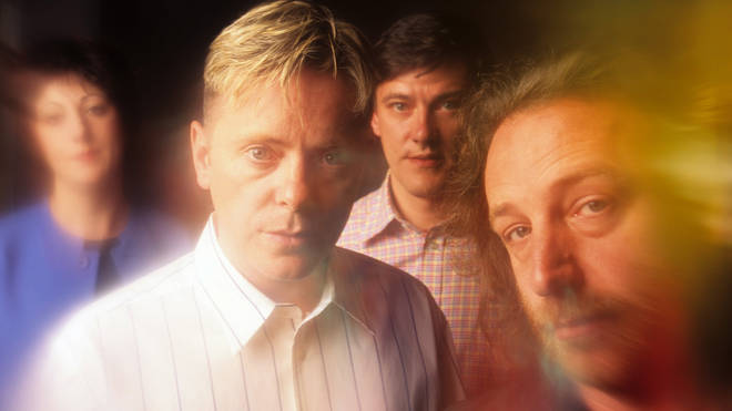 New Order in 1989: Gillian Gilbert, Bernard Sumner, Stephen Morris and Peter Hook