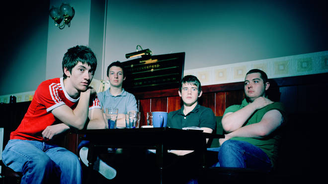 Arctic Monkeys in 2006: Alex Turner, Matt Helders, Jamie Cook and Andy Nicholson
