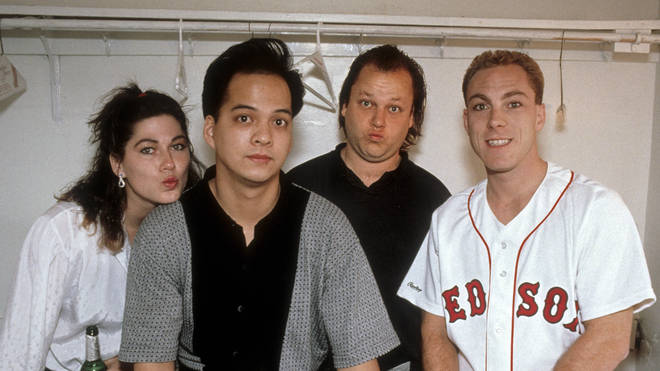 Pixies in 1992: Kim Deal, Joey Santiago, Frank Black and David Lovering