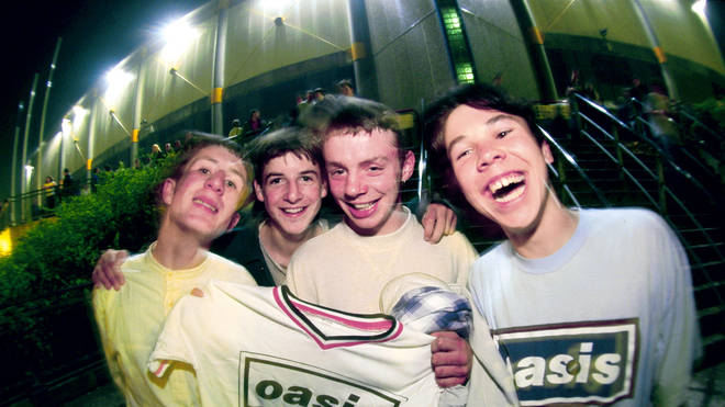 Oasis fans during the heyday of Britpop