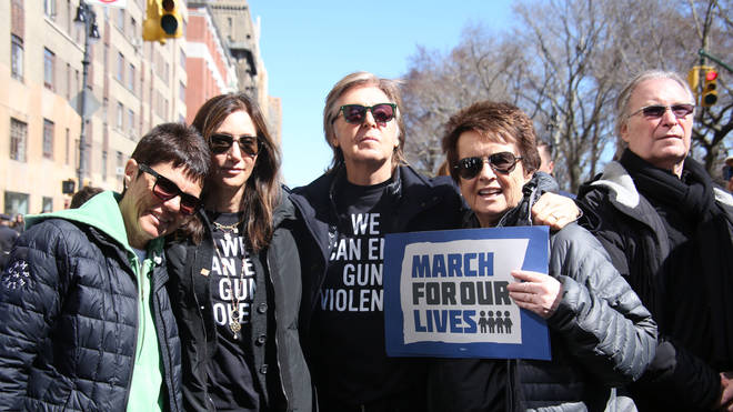 Paul McCartney on anti-gun march