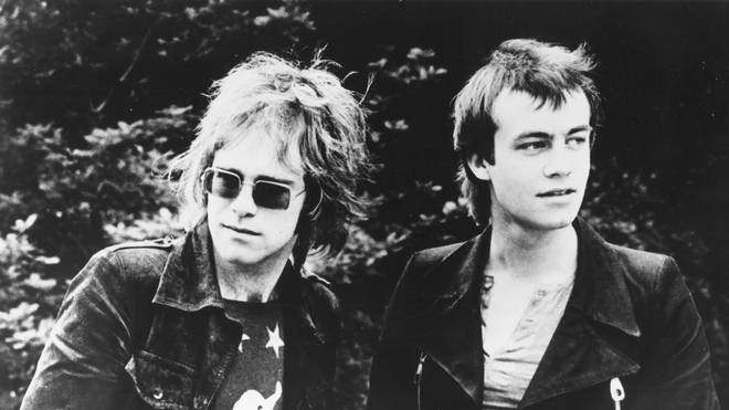 Elton John poses for a portrait with his lyricist Bernie Taupin in 1969 in London