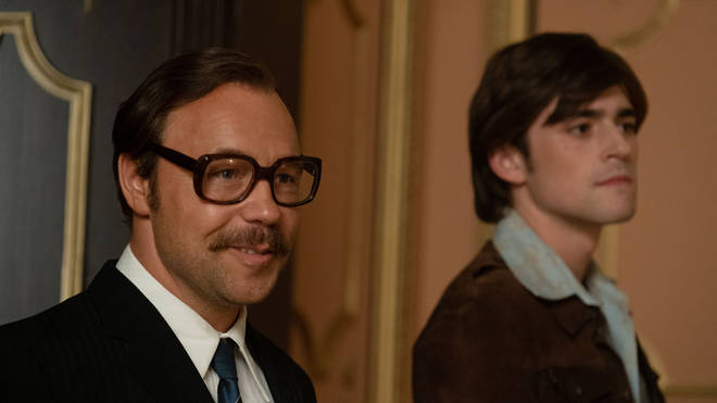 Stephen Graham as Dick James and Charlie Rowe as Ray Williams in Rocketman (2019)