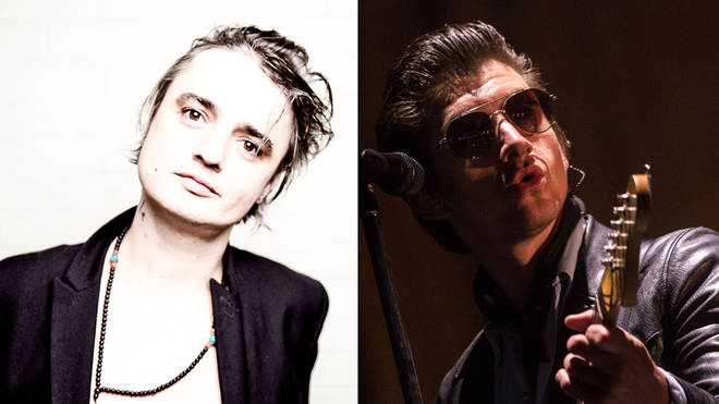 The Libertines' Pete Doherty and Arctic Monkeys' Alex Turner