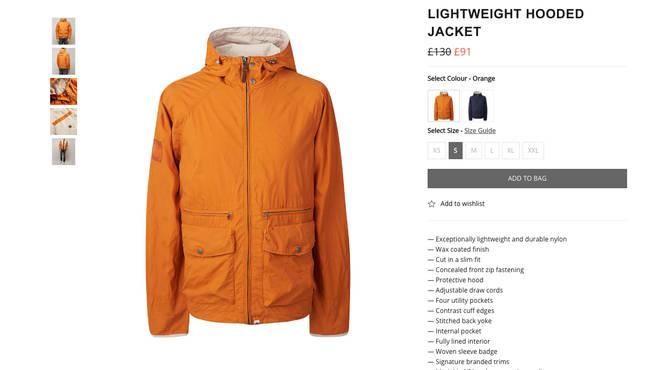 Orange Lightweight Hooded Jacket