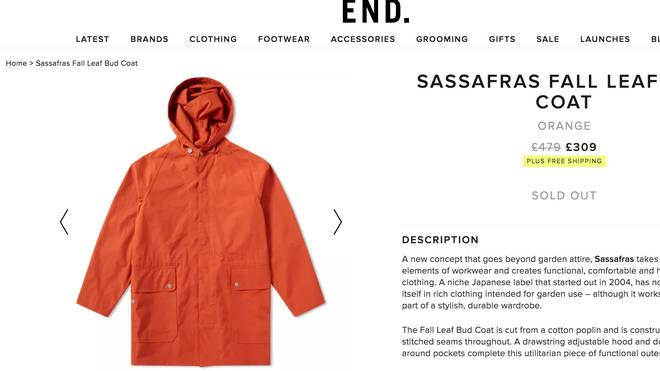 Liam Gallagher's Sassafras Fall Leaf Bud Coat