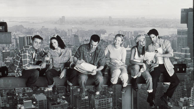 Matt LeBlanc, Courteney Cox, Matthew Perry,  Lisa Kudrow, Jennifer Aniston, and David Schwimmer in Friends
