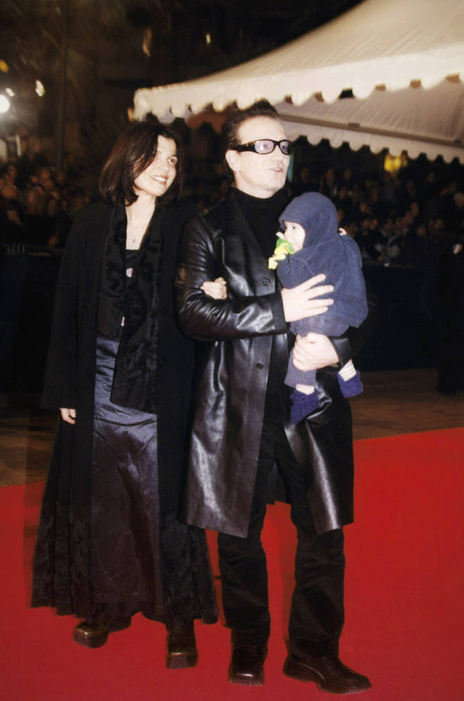 Elijah Hewson with his parents Bono and Ali at Cannes back in 2000.