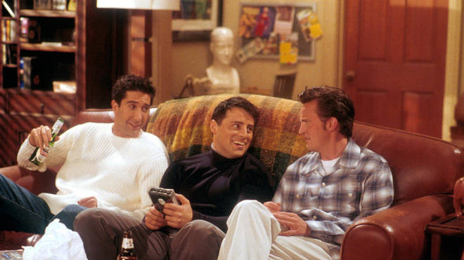 David Schwimmer, Matt LeBlanc and Matthew Perry in Friends