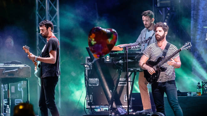 Foals at Glastonbury in 2016